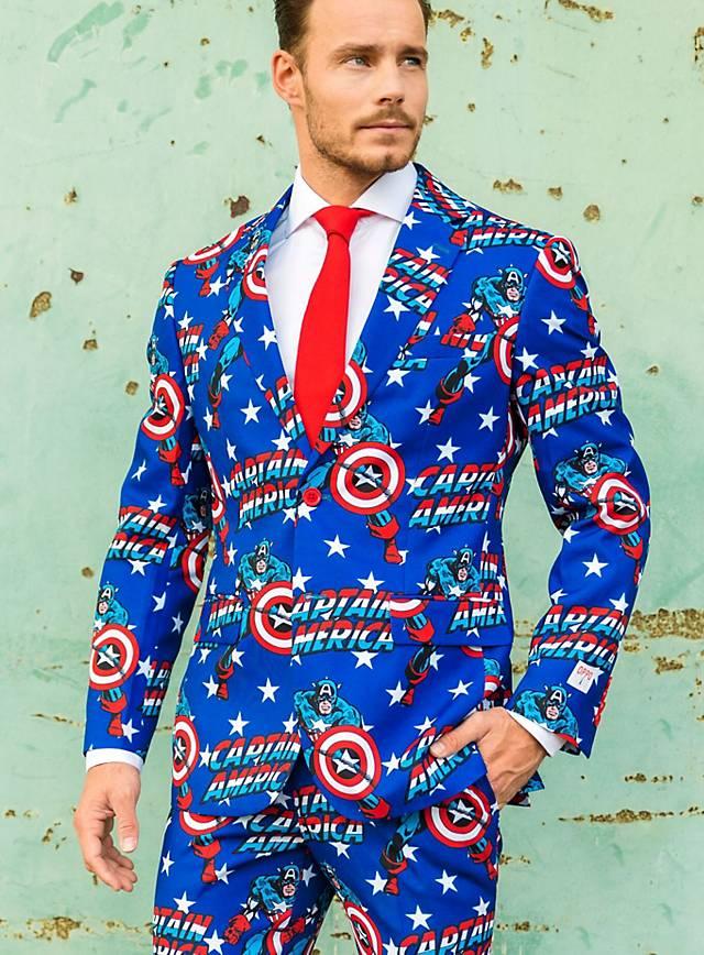 Captain America / Marvel / Spiderman Anzug (Opposuit) für 42,61 €, ab zwei Stück je 37,71 € - maskworld.com