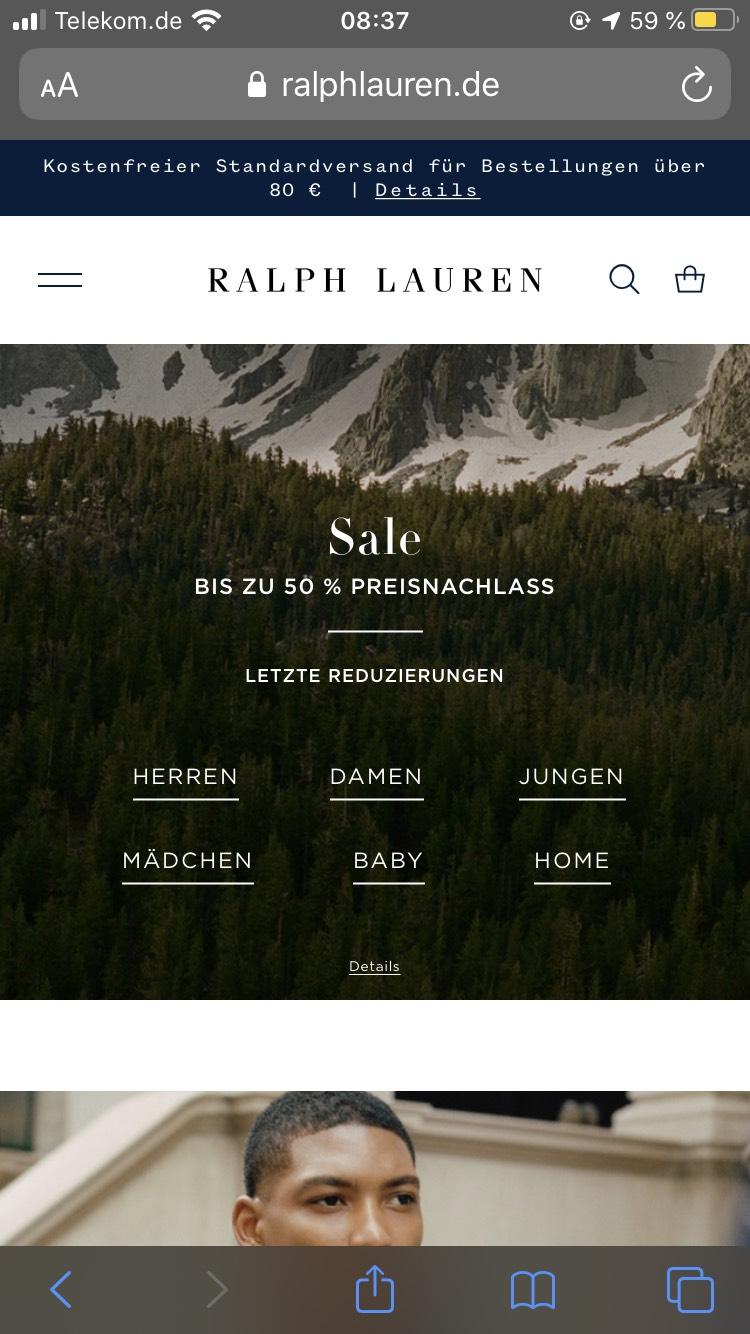 Bis zu 50% Sale bei Ralph Lauren