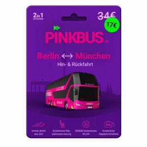 Pinkbus - kostenlose Rückfahrt zwischen Berlin und München