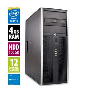 HP Elite 8300 CMT - Core i3-3220 @ 3,3 GHz 3. Gen - 4GB RAM - 500GB HDD - DVD-RW - Win10Home (refurbished)