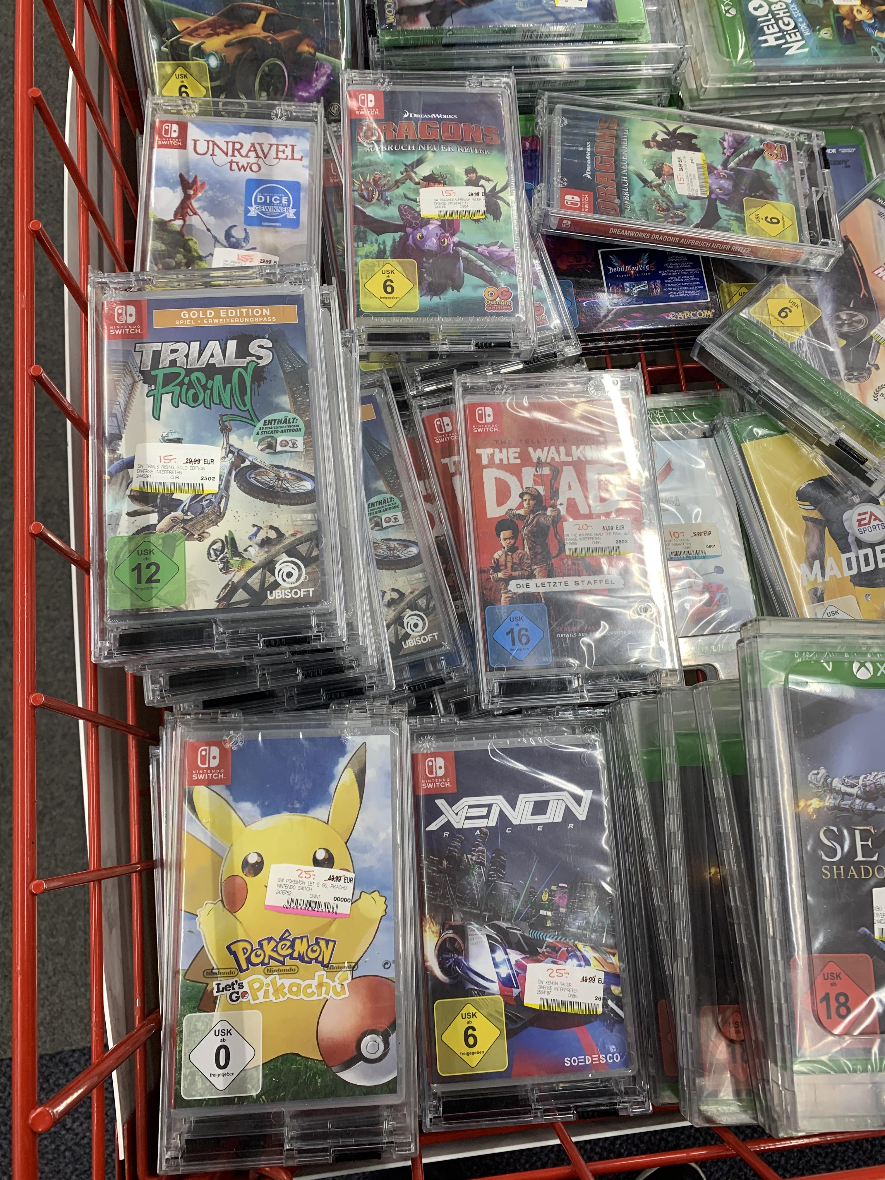 [Lokal Stuttgart] Mediamarkt Switch Games- Pokemon Lets Go Pikachu, Unravel Two, Drachen zähmen...