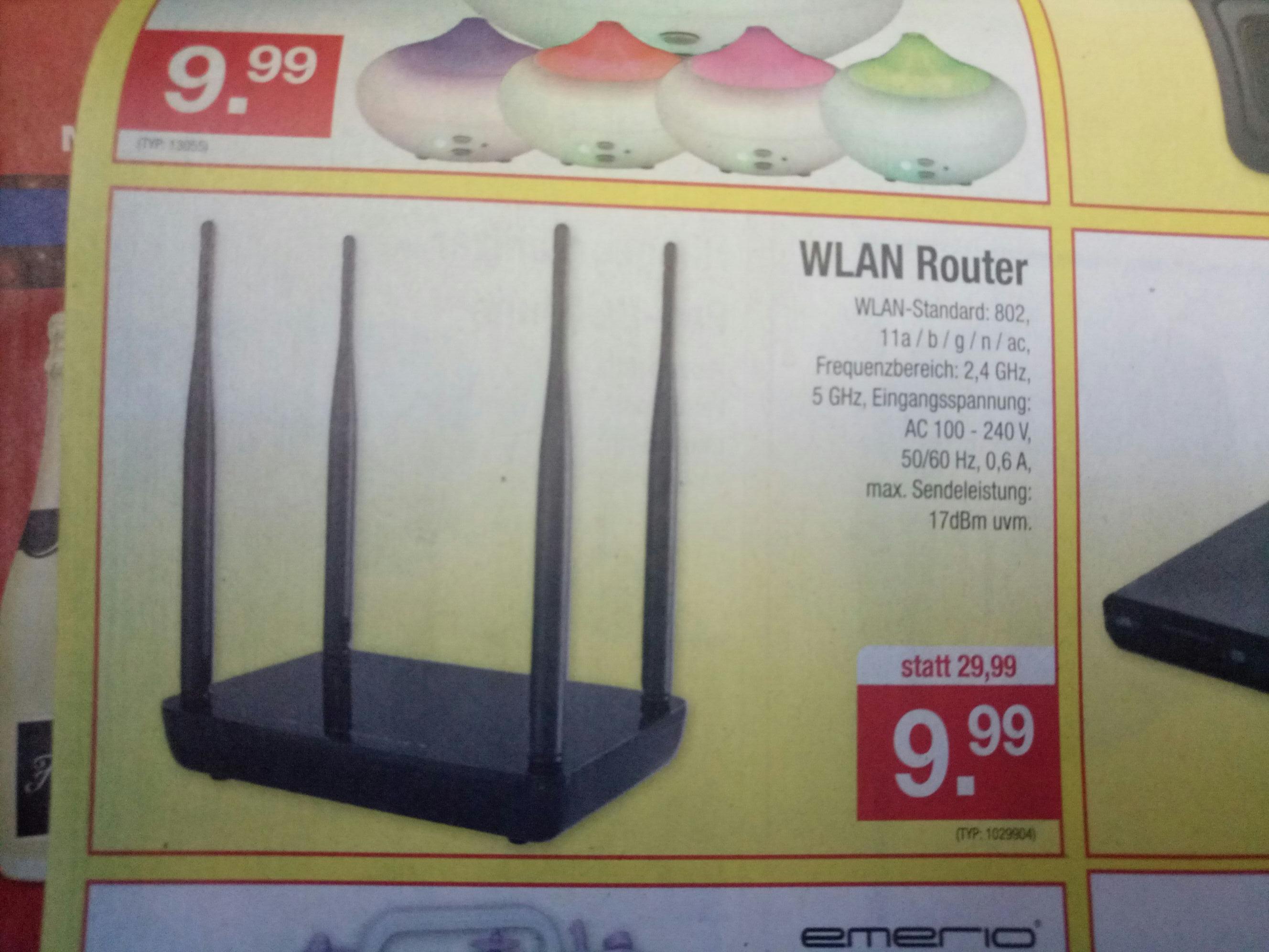 WLAN Router 2,4+5 GHz für 10€