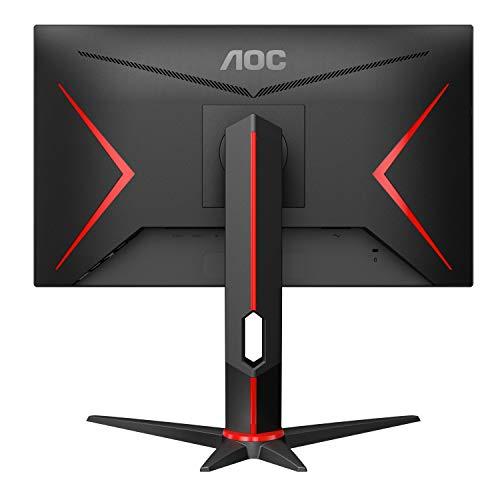 AOC Gaming 24G2U/BK 60 cm (23,8 Zoll) Monitor (IPS, FHD, HDMI, DisplayPort, Free-Sync, 1ms Reaktionszeit, 144 Hz, 1920x1080) schwarz/rot