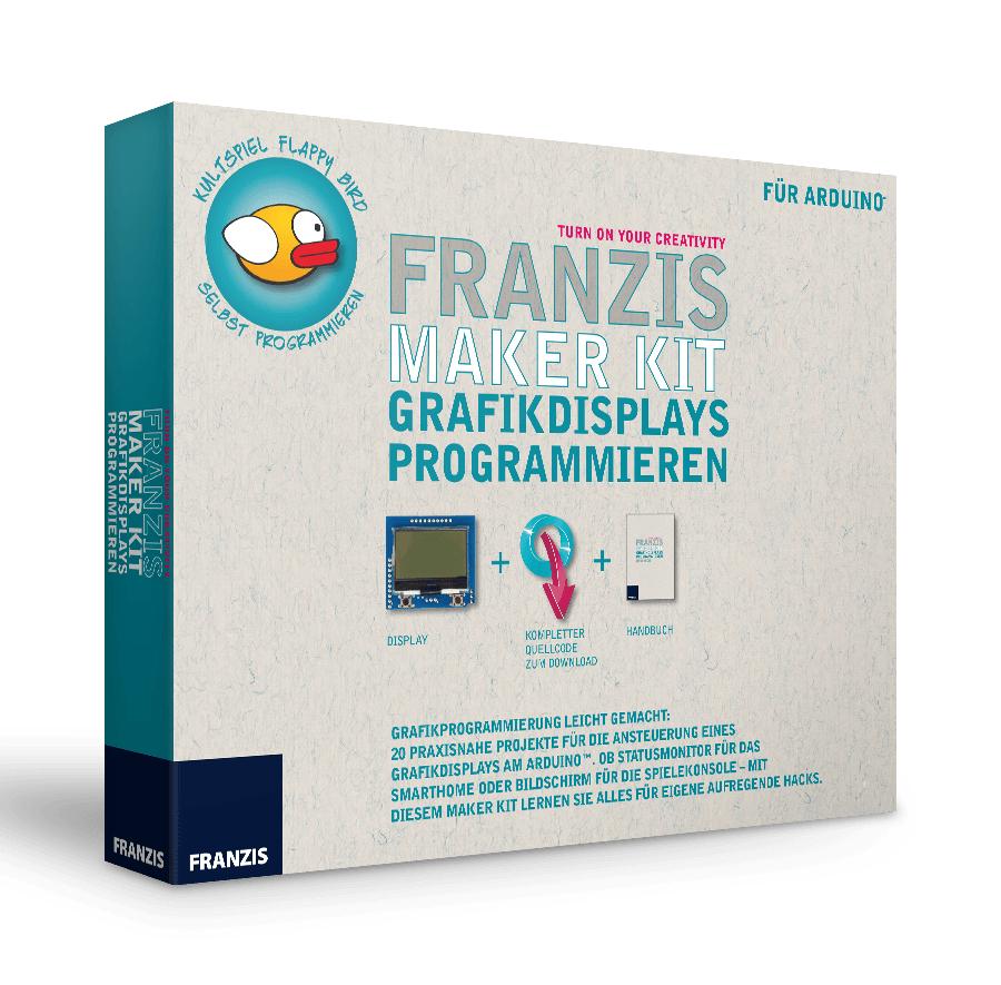 """Franzis Maker Kit """"Grafikdisplays programmieren"""" (Handbuch mit 20 Projekten, inkl. Display, ohne Arduino-Platine)"""