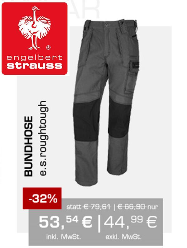 SALE bei engelbert strauss z.B. Arbeitshose e.s.roughtough 53,24€ statt 79,61€ + VSK