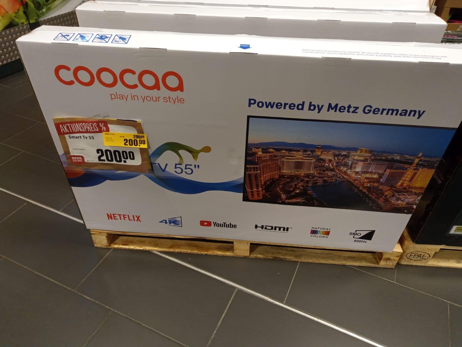 Coocaa 55U2A13G 55 Zoll Smart LED Fernseher (139cm) im Rewe EKZ VOGELHERD in Nürnberg