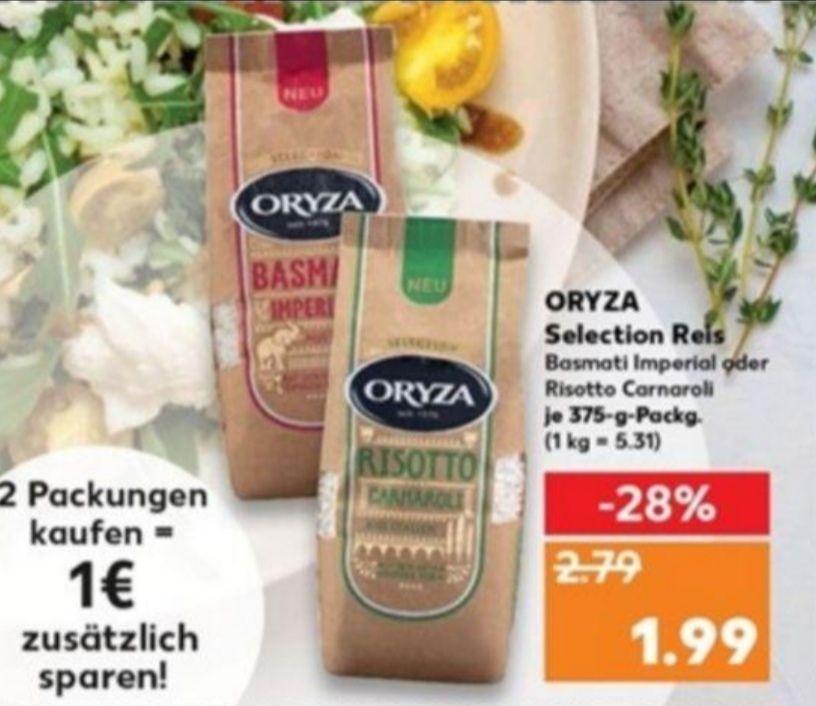[Kaufland] 2x Oryza Selection Reis mit Coupon für 2,98€