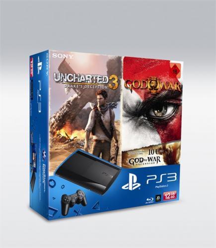 Konsole PlayStation 3 12 GB + Uncharted 3 + God of War 3 bei gamestop