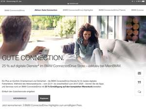BMW Connected Drive Store 25% Rabatt auf alles