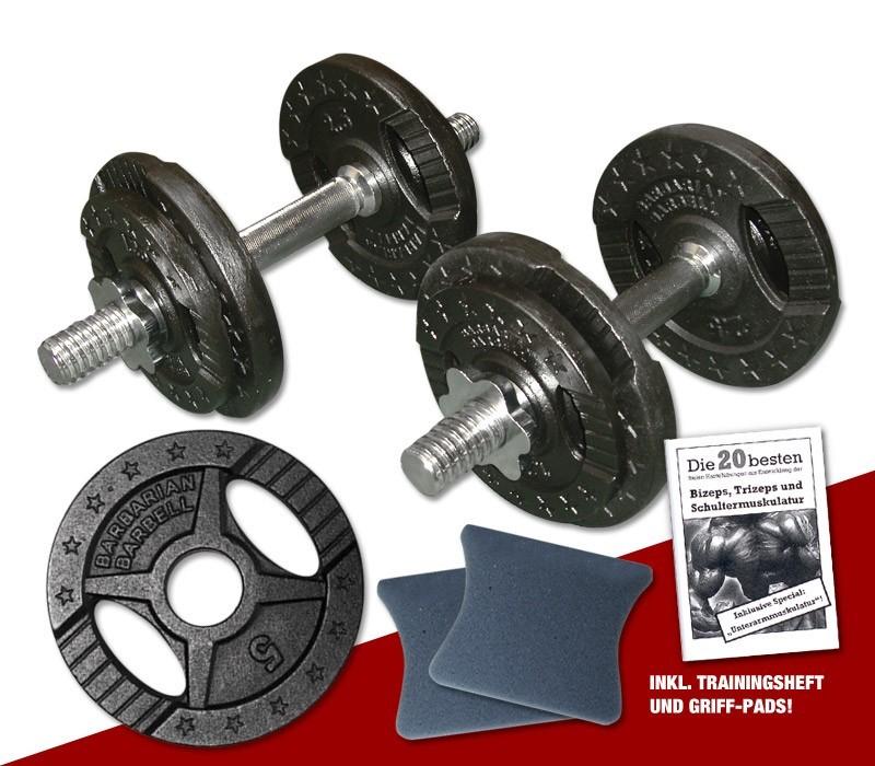 Kurzhantel - Set 2 x 10 kg für 21,45€ // Hantelscheiben 1,25kg für 1€