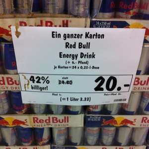 [LOKAL] 24x Red Bull für 20€ @ Kaufland Fellbach