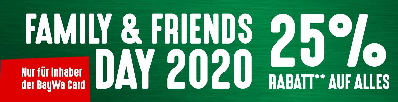 [Lokal] BayWa 25% auf ALLES. Family & Friends Day 2020.