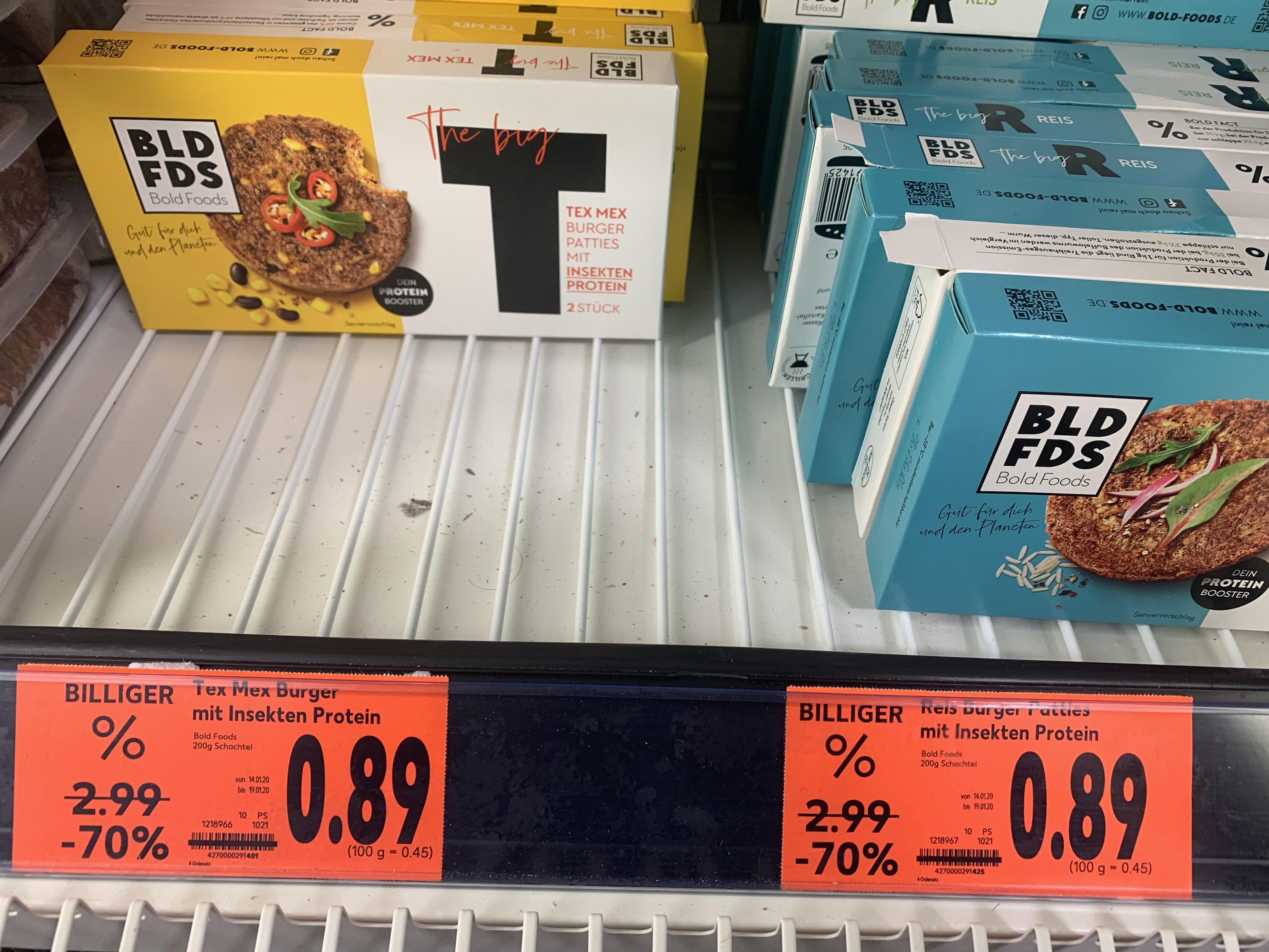 Lokal Kaufland Hamburg Bergedorf Verschiedene Insekten Burger Patties