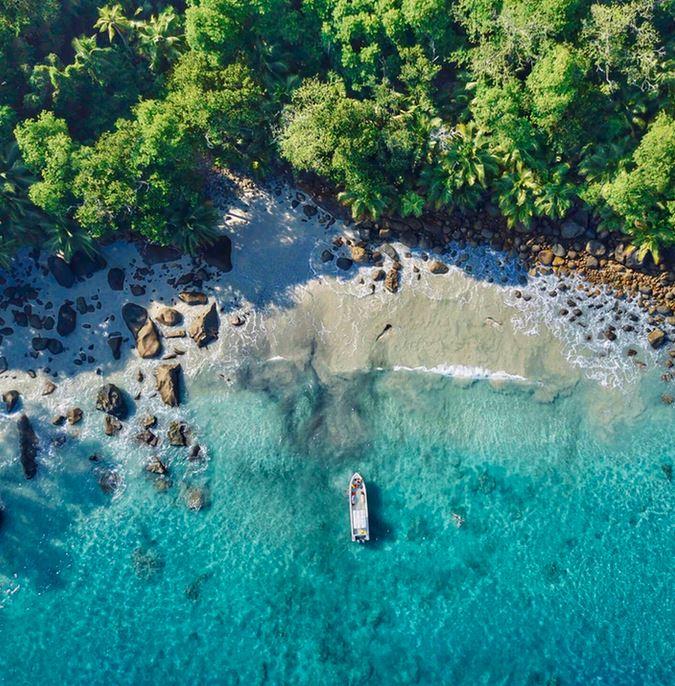 Flüge: Seychellen [Jan. - April] Hin und Zurück mit 5* Qatar Airways von Frankfurt nach Mahe ab nur 486€ inkl. Zug zum Flug
