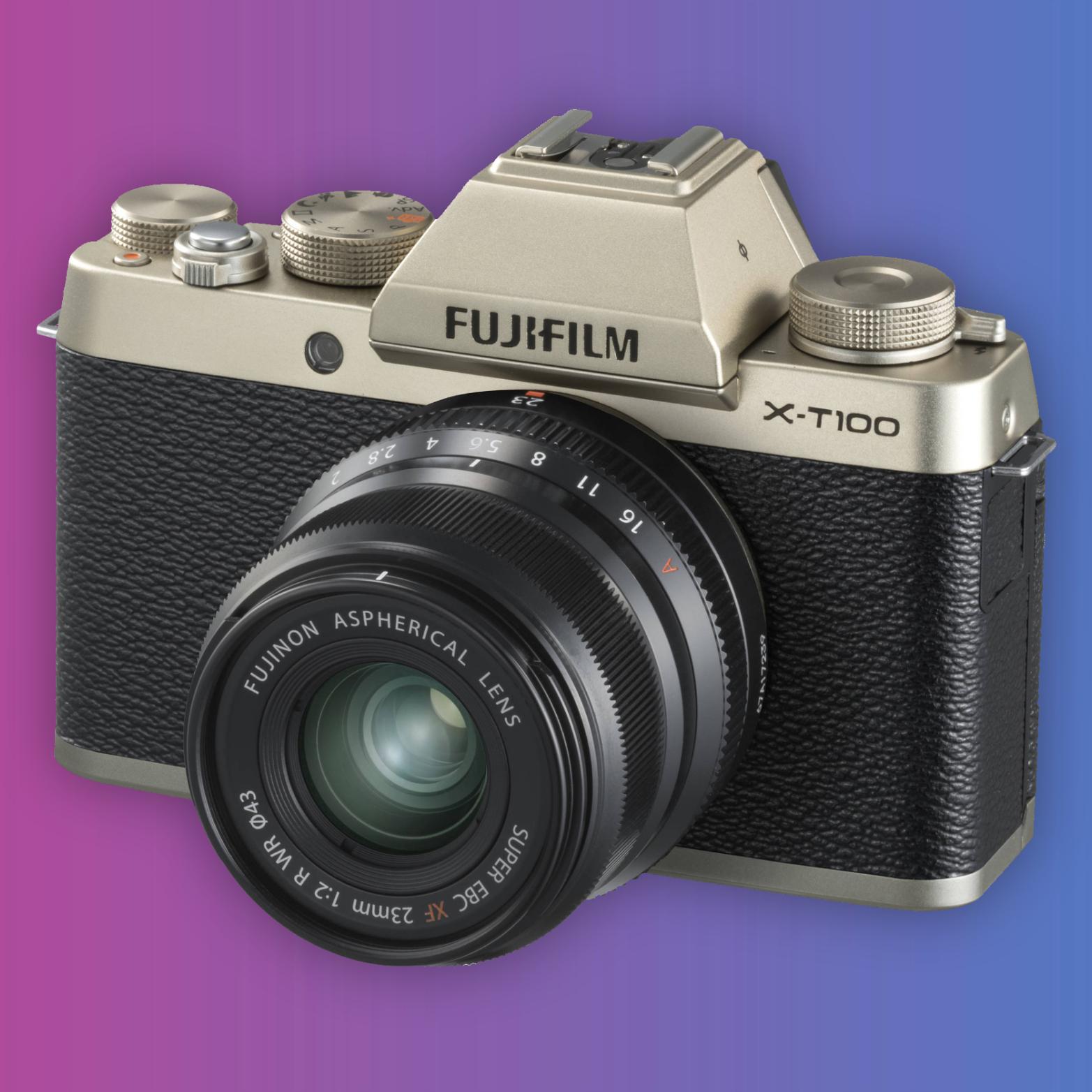 Fujifilm X-T100: Systemkamera Kit 15-45mm F3.5-5.6 Objektiv
