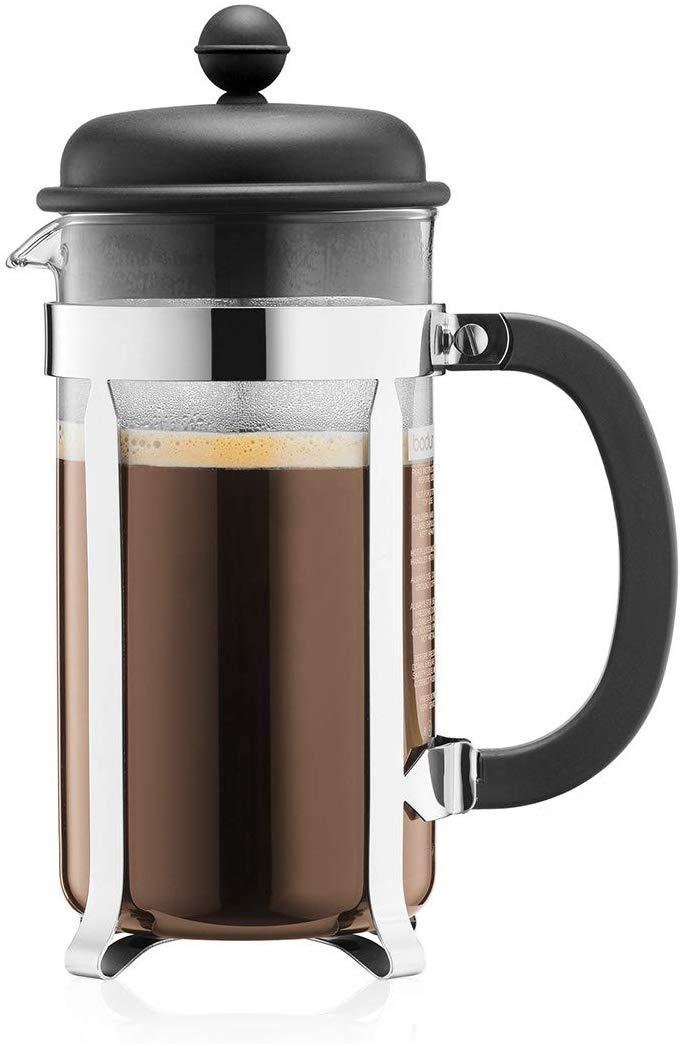 Bodum Caffettiera Kaffeebereiter (French Press System, Permanent Edelstahlfilter, 1,0 Liter) für 7€ (Müller Abholung)