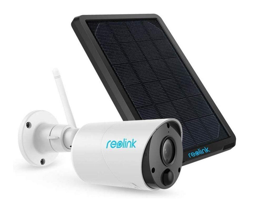 Reolink Überwachungskamera Argus Eco + Solarpanel, 1080p WLAN IP Kamera Aussen mit Akku, SD Kartenslot, PIR, IR Nachtsicht