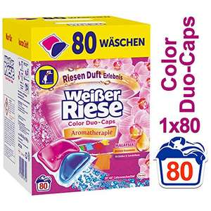 Weißer Riese Color Duo-Caps, Colorwaschmittel, 80 WL [Amazon Prime]
