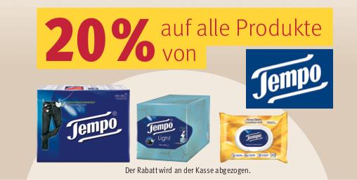 Rossmann-Deals in der Übersicht für die Aktionswoche (KW05) z.B. 20% Rabatt auf Produkte von Tempo