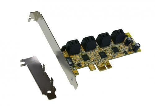 preiswerte Nachrüstung von 8 Festplatten - Exsys® PCIe SATA II EX-3508