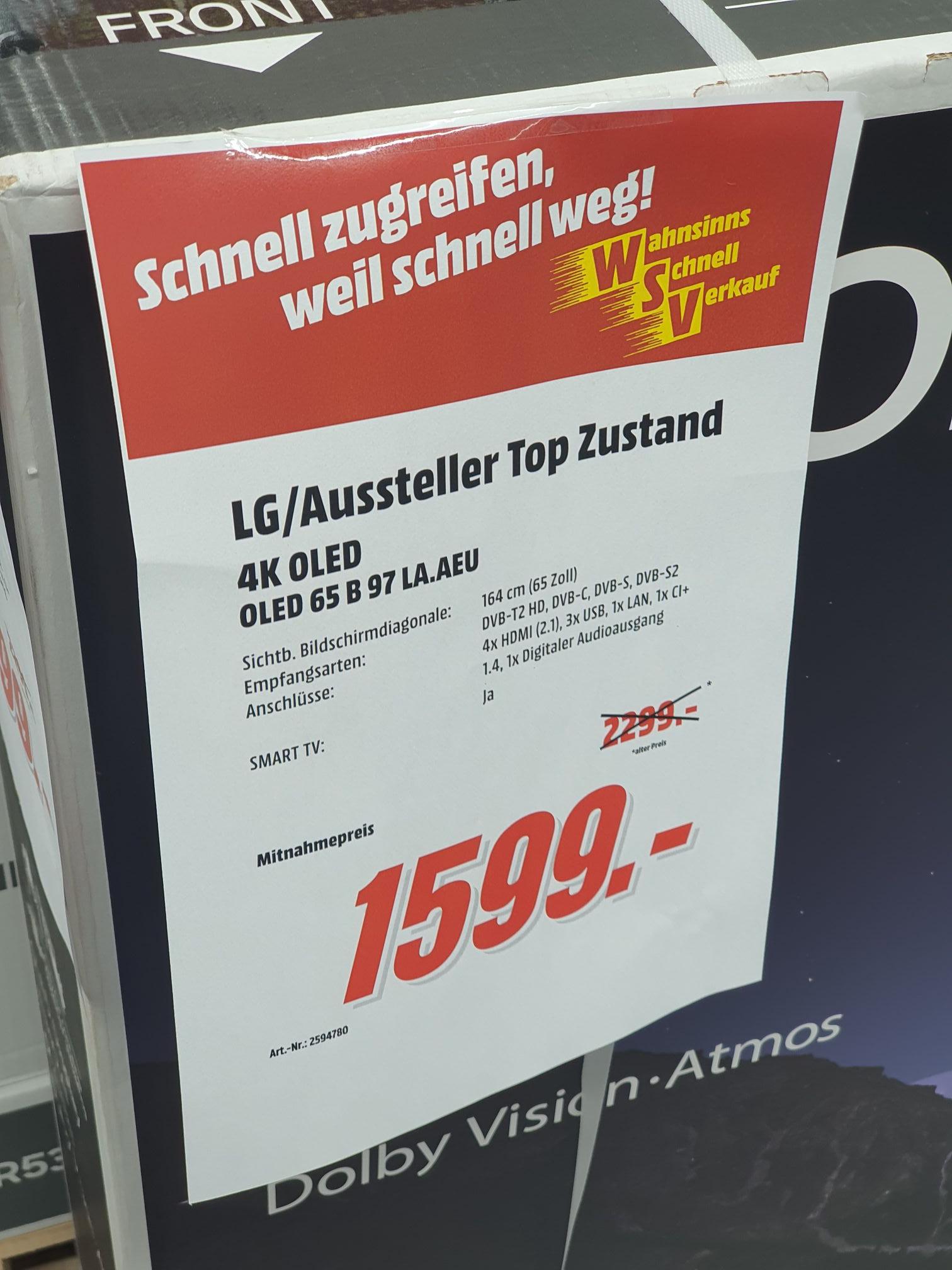 [Lokal Köln - Media Markt] LG Oled 65 B9 Aussteller