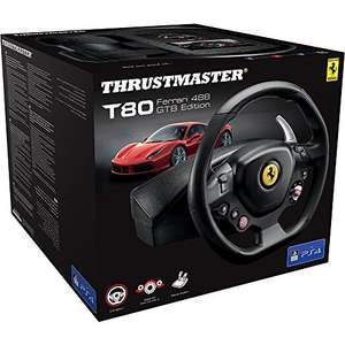 Thrustmaster T80 Ferrari 488 GTB Edition Lenkrad inkl. 2-Pedalset (PS4/PC) für 56,40€ (Amazon IT)