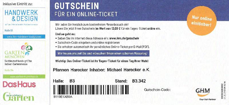 Kostenlose Tagestickets - Internationale Handwerksmesse München
