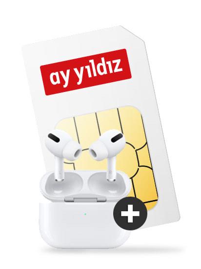 Ay Yildiz Allnet-Flat 4,5GB, Flat ins türkische Festnetz & inkl. AirPods Pro