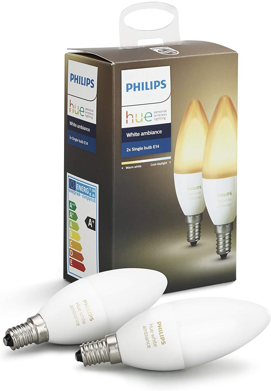 Philips Hue Ambiance E14, 2er Set, mit Coupon