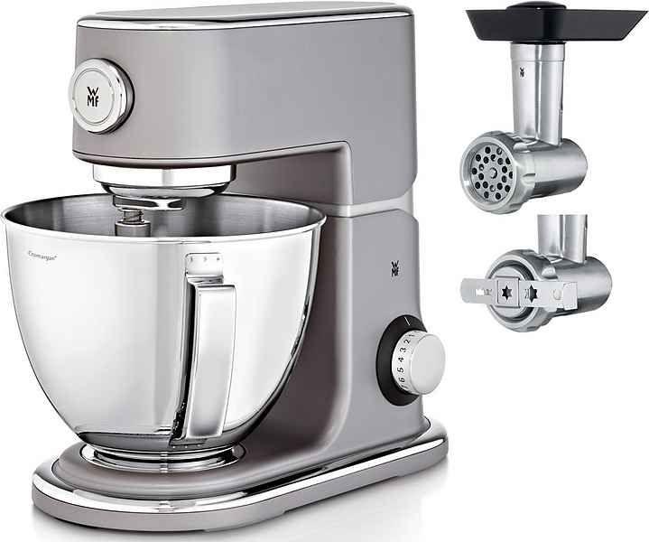WMF Küchenmaschine Profi Plus, 1000 W, 5 l Schüssel, mit Gratis Fleischwolf+Spritzgebäckvorsatz (ca. 95,-)
