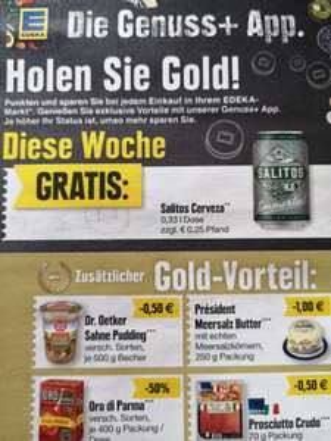 (Edeka Rhein-Ruhr / Edeka Genuss+ App) 1 Dose 0,33 Salitos Cerveza
