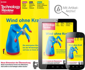 2x Technology Review (Print+Digital) + 10€ Amazon Gutschein + digitales Artikel-Archiv