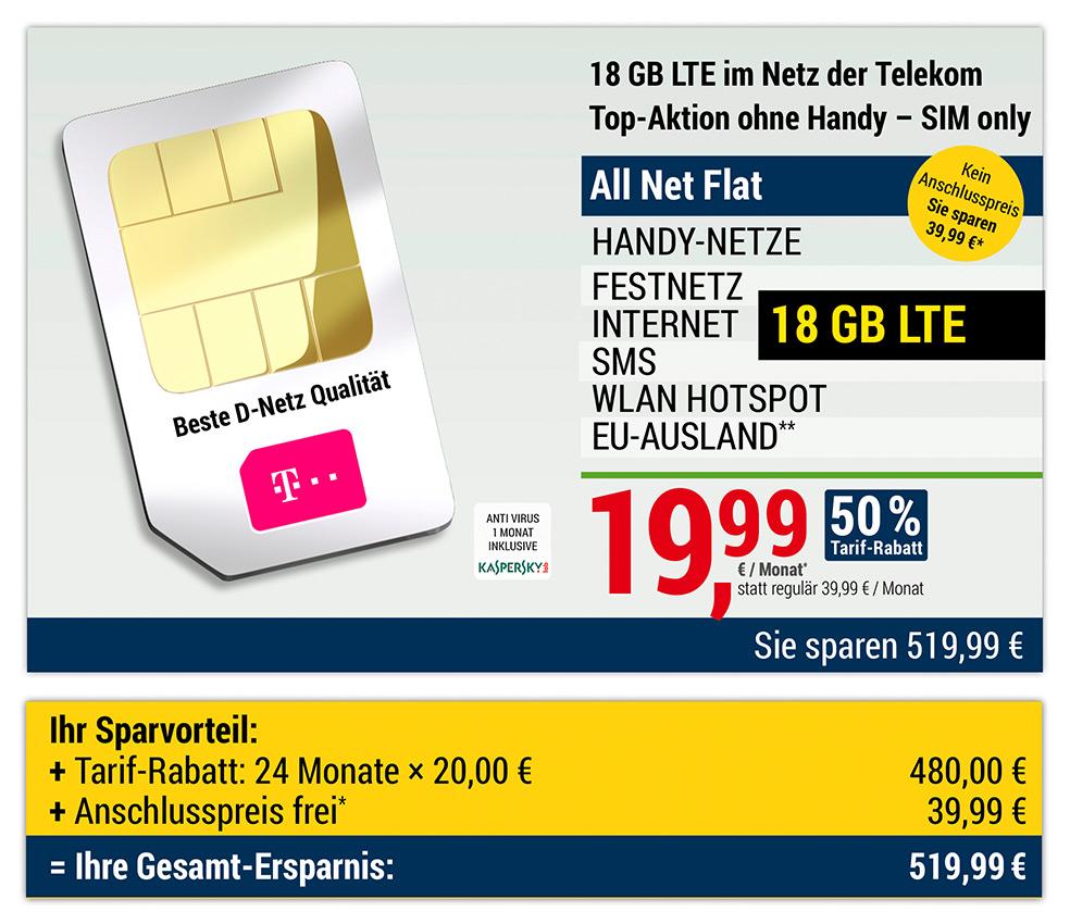 Mobilcom-debitel Telekom green LTE 18GB 50mbits für 19.99€/ Monat (als ADAC Mitglied; scheinbar keine Abfrage)