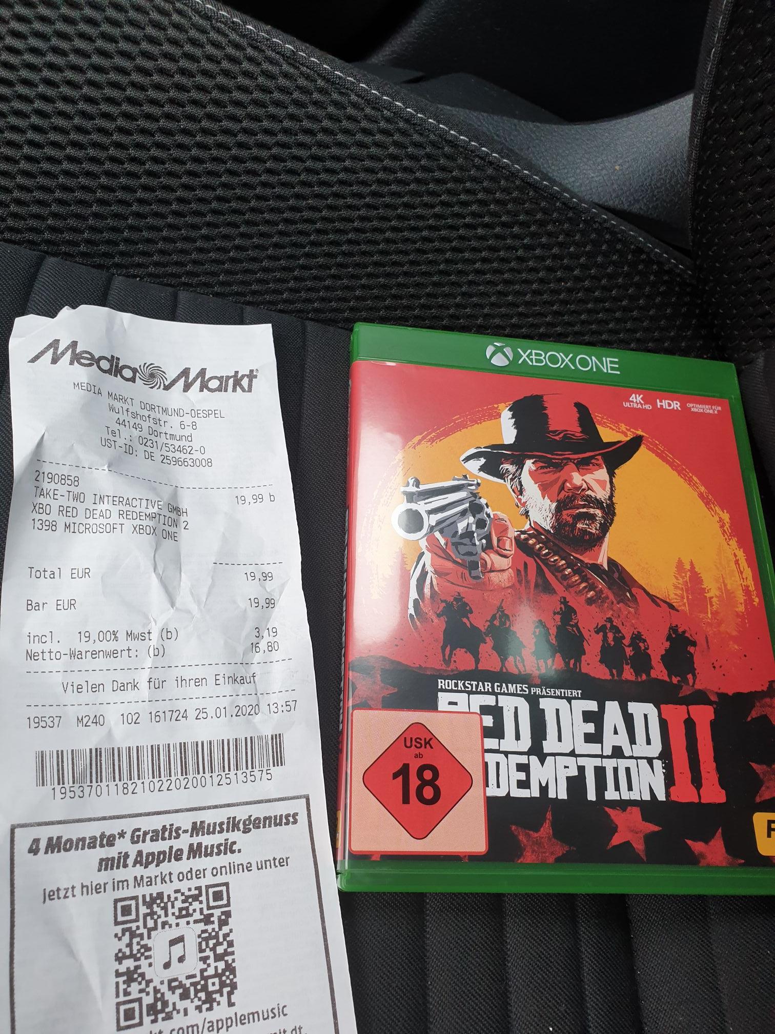 [Lokal Dortmund Oespel] Media Markt - Red Dead Redemption 2 Xbox One
