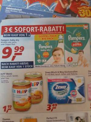 Pampers baby dry Pants und Windel Doppelpack bei Real
