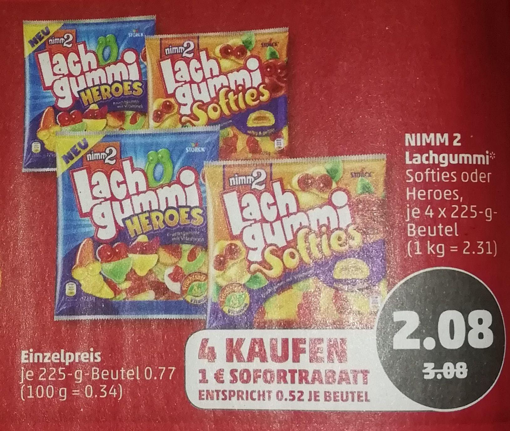 [Penny] 4x Nimm 2 Lachgummi für 2,08€ dank Sofort Rabatt
