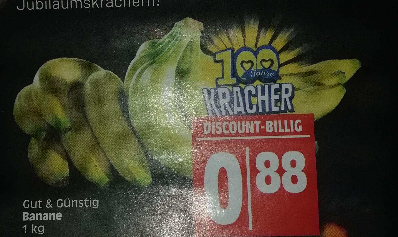 [Edeka Minden-Hannover] Bananen je kg für 0,88€