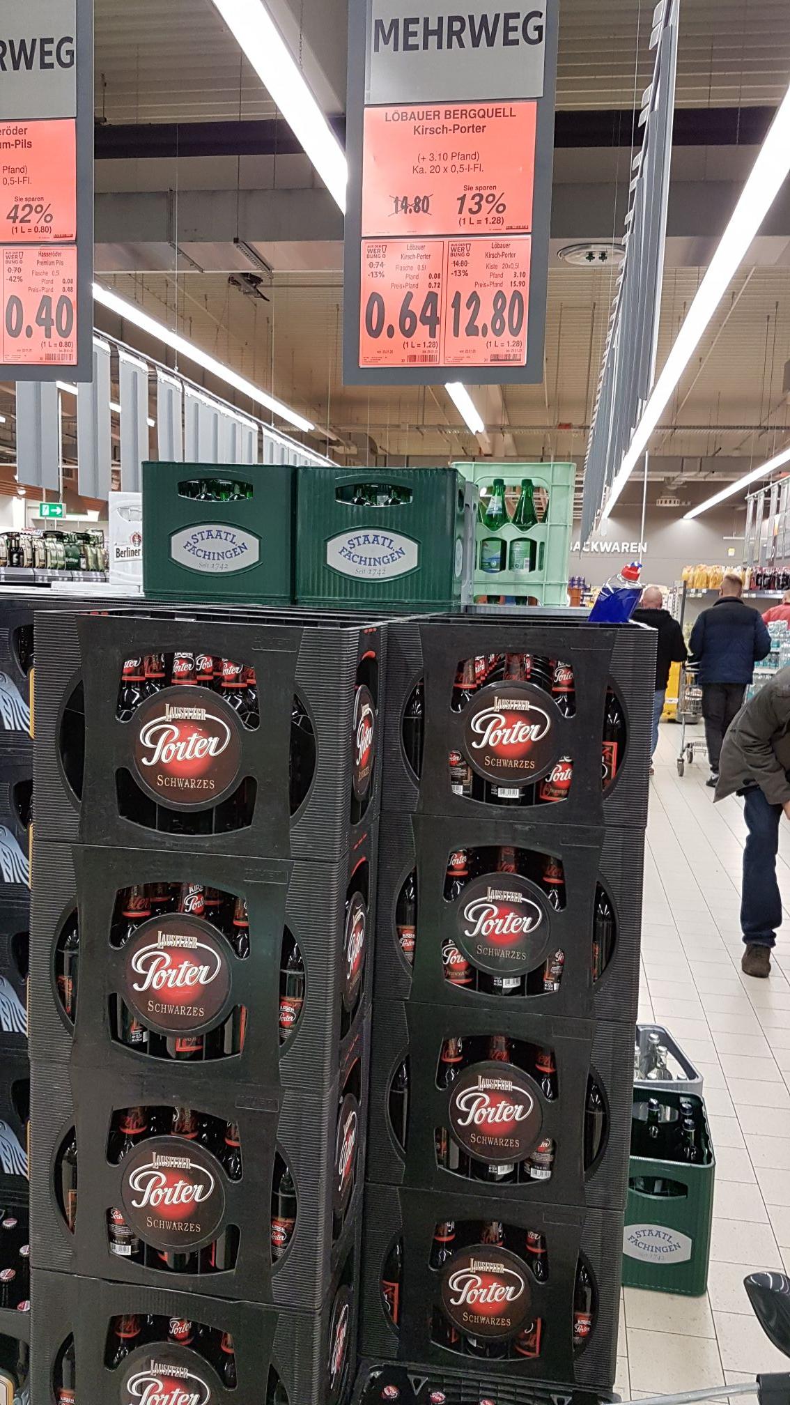 [Lokal Berlin/Brandenburg] Kaufland, Bier, Lausitzer Porter Kirsch