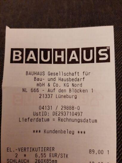 [Lokal] Bauhaus Lüneburg (Bilmer Berg) Vertikutierer Gardena EVC 1000