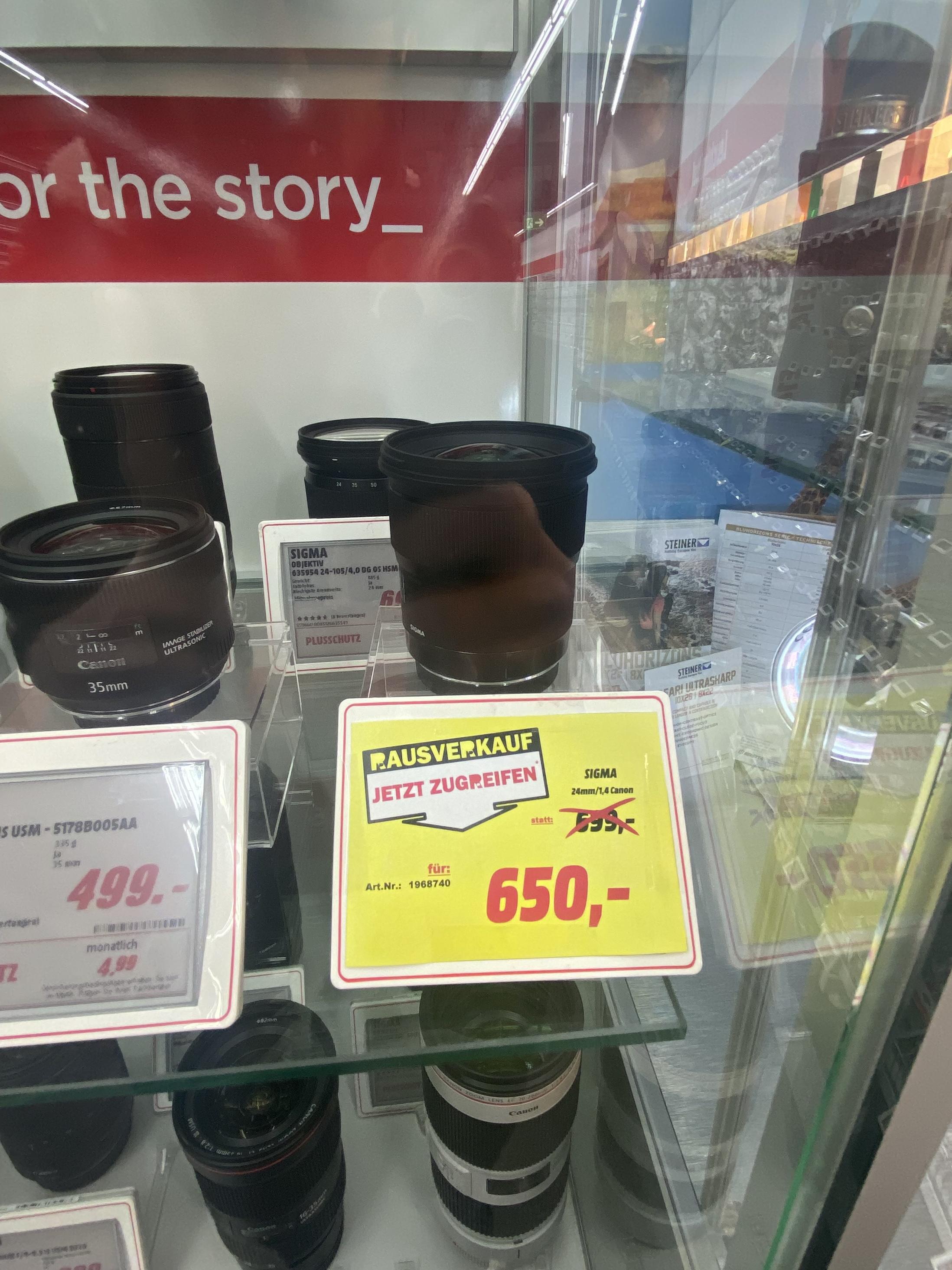 [Lokal Leipzig][Media Markt] Sigma 24mm 1.4 Art Canon