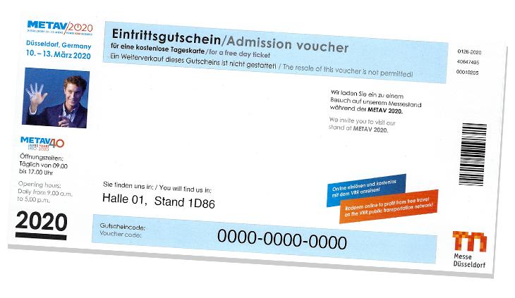 METAV 2020 - Freikarte inkl. VRR-Ticket
