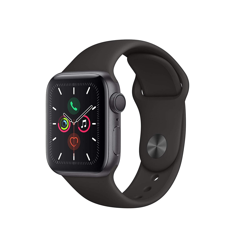 Apple Watch Series 5 GPS 40mm Aluminiumgehäuse Space Grau Sportarmband Schwarz