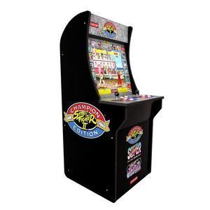 Arcade1Up Automat mit klassischen Videospielen - Street Fighter 2, Street Fighter Champion, Street Fighter Turbo - für zwei Spieler