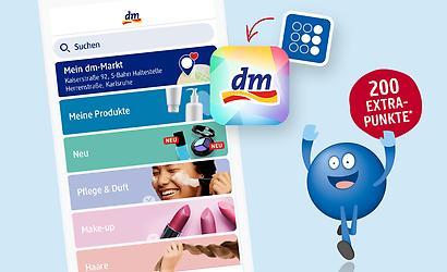 200 Payback-Punkte for free in der neuen dm-App (bei erstmaliger Verknüpfung)