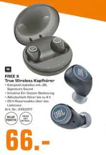 [Regional Saturn Berlin-Nur Heute] JBL Free X Bluetooth Sport Kopfhörer In Ear kabellos schwarz für 66,-€