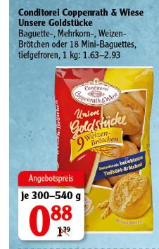 Globus / Coppenrath & Wiese Brötchen Goldstücke