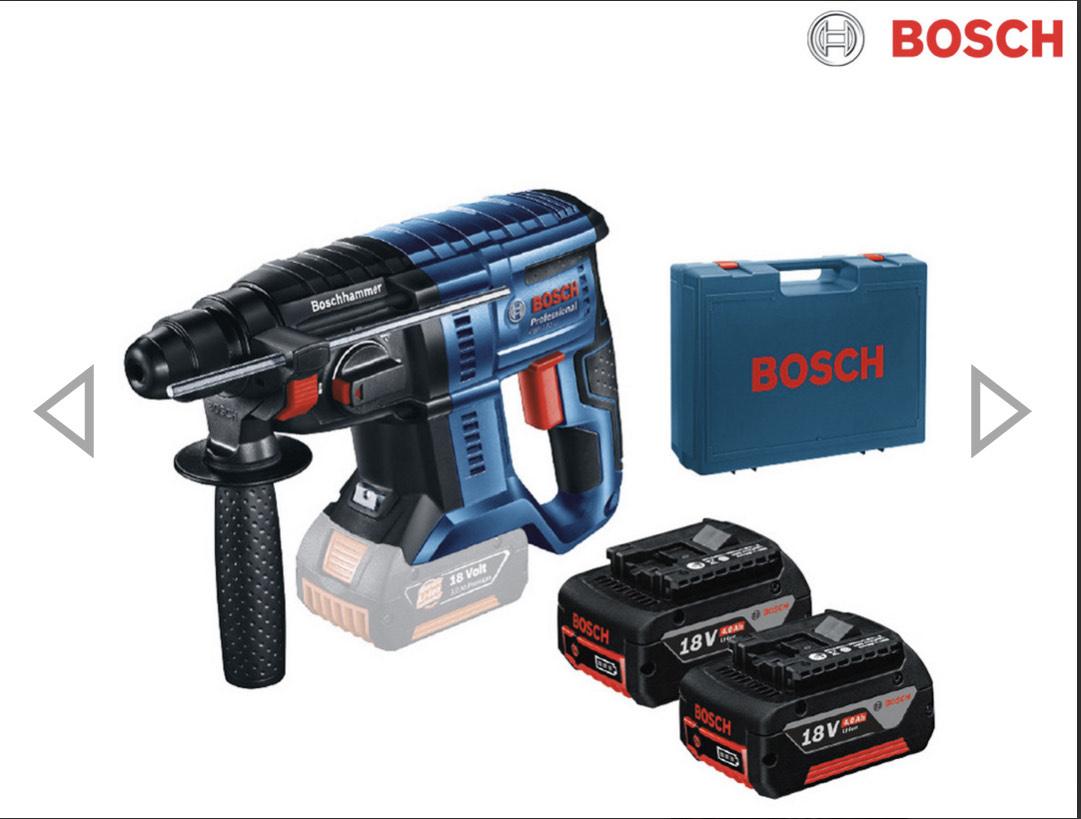 Bosch GBH 180-LI Kombibohrhammer 2x 4,0 Ah | 18 V