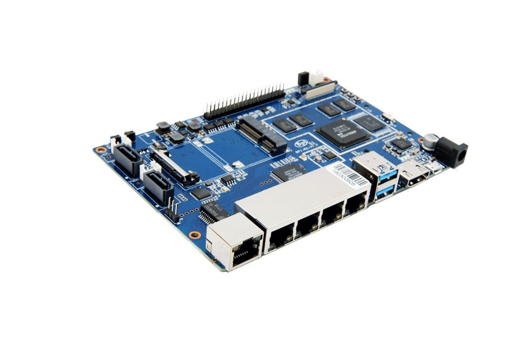 Banana Pi BPI-R2 Einplatinen-Computer (ähnlich zu Raspberry Pi)