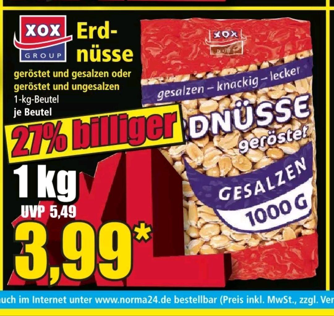 [Norma] 1kg Erdnüsse ungesalzen/gesalzen