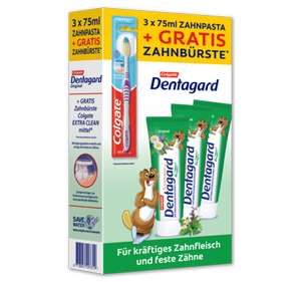 [Penny] Dentagard Zahncreme Aktionspack (3 + Zahnbürste)